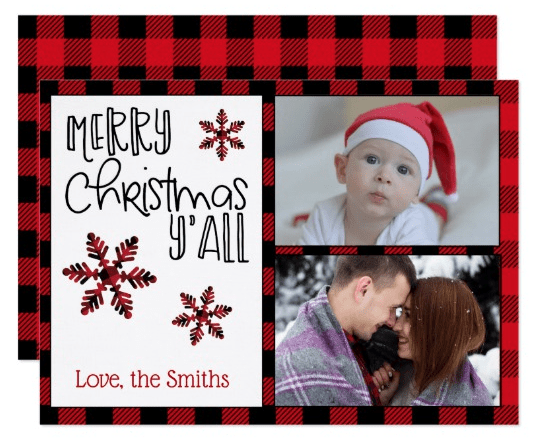 Merry Christmas Y'all Photo Holiday cards