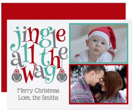 Jingle all the Way Photo Holiday Cards