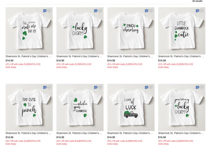 St. Patrick's Day Shirts on Zazzle