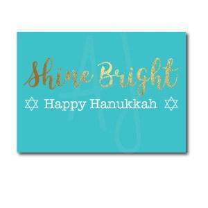 Shine Bright Hanukkah Card