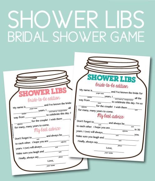 Shower Libs Bridal Shower Game