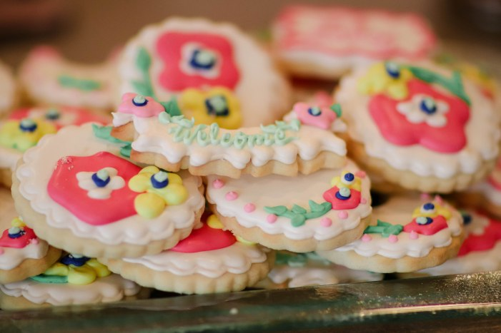 Floral Cookies for a Garden Sip and See Party