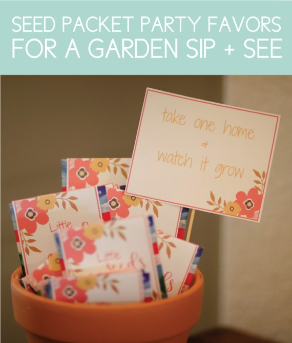 Garden Themed Party Favor for a Sip and See Baby Shower
