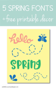 picture regarding Fonts Printable identified as 5 Spring Fonts By yourself Have to have in the direction of Obtain Straight Presently + No cost