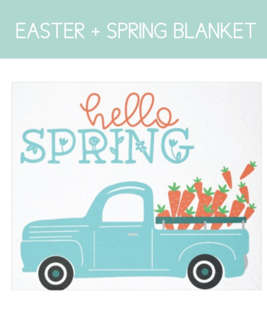 Hello Spring Blanket for the Home