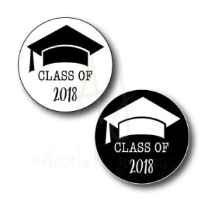 circle graduation stickers