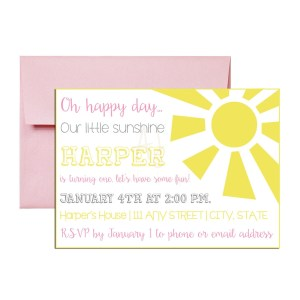 Pink Sunshine Invite