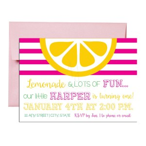 sunshine birthday party invite