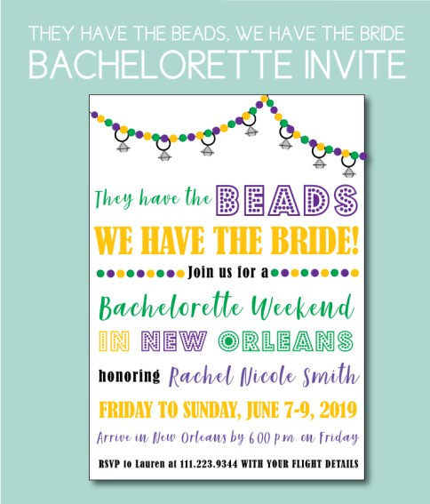 They Have the Beads, We Have the Bride, Bachelorette Party Theme