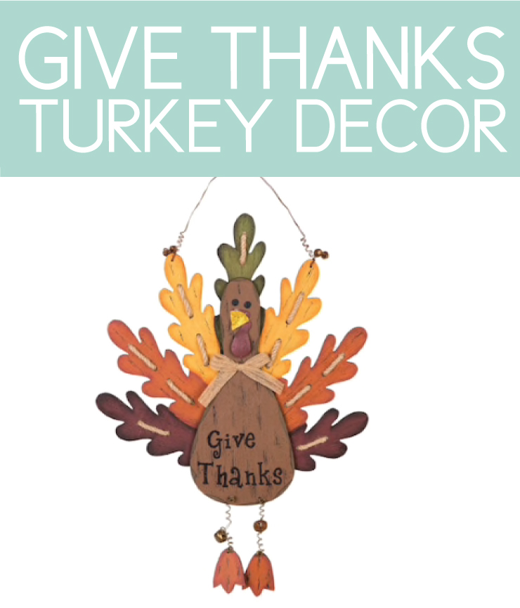 "Hang this ""give thanks"" turkey on a fall front porch"