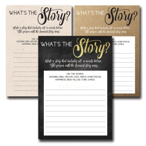 What's the Story Bridal Shower Game