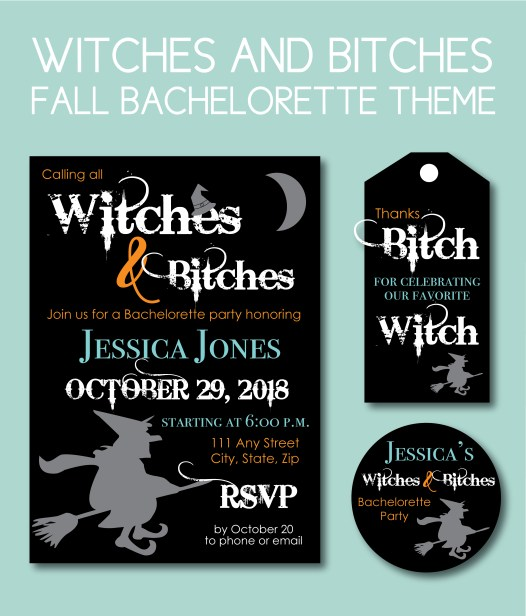 Witches and Bitches Fall Bachelorette Ideas