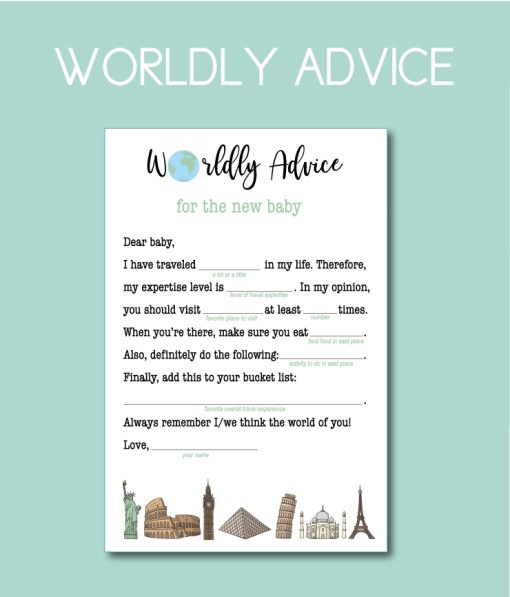 Worldly Advice for the New Baby