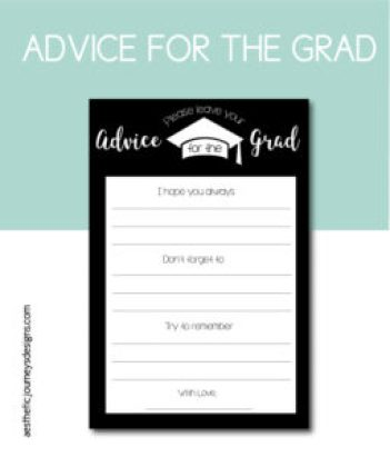 Advice Card for the Graduate