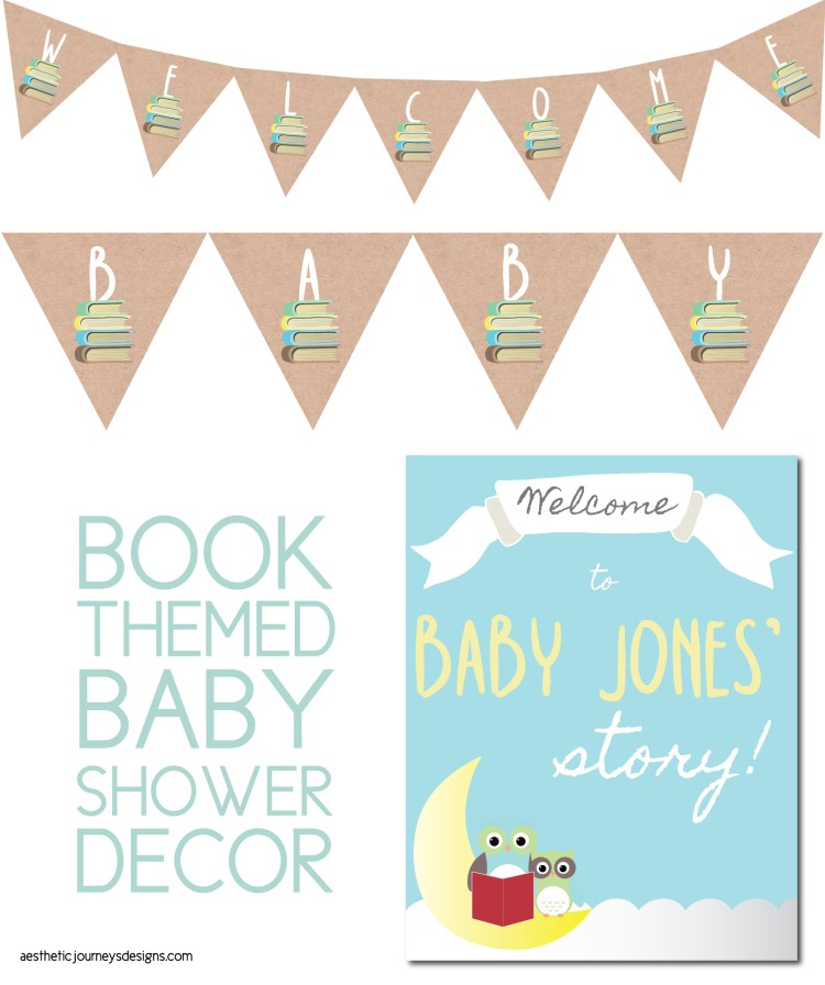 Book Themed Baby Shower Decor