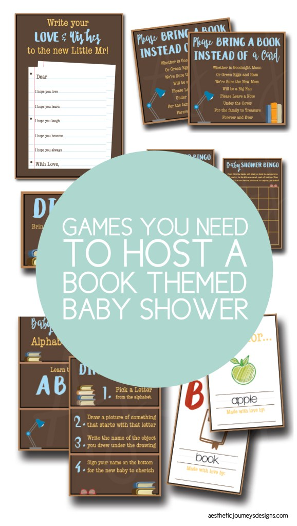 All the games you need to host a book themed baby shower.