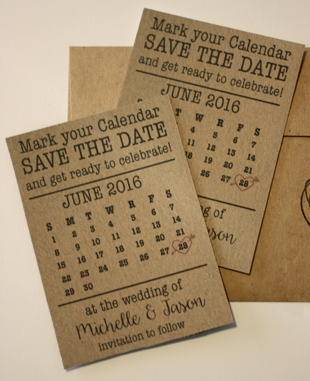 calendar magnet save the date envelopes
