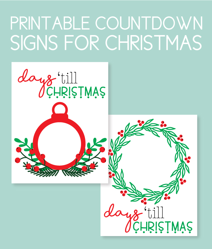 Printable Instant Downloads to countdown to Christmas
