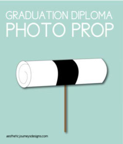 Diploma-Shaped Photo Prop