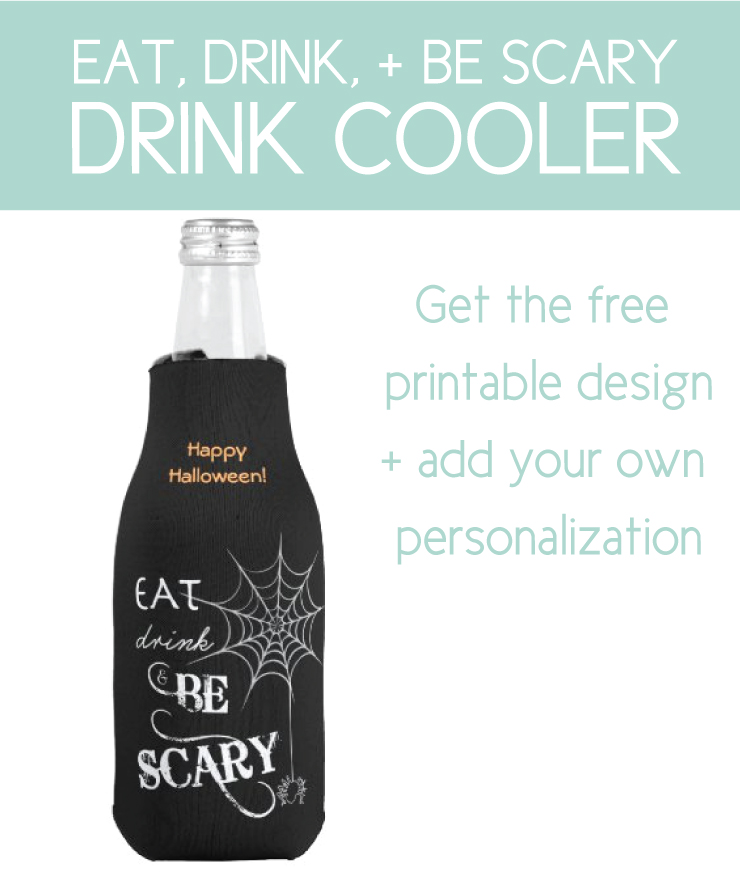 drink cooler with free halloween printables