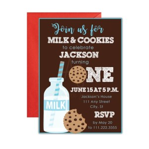 Milk and Cookies Party Invite