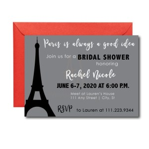 Paris themed party invite