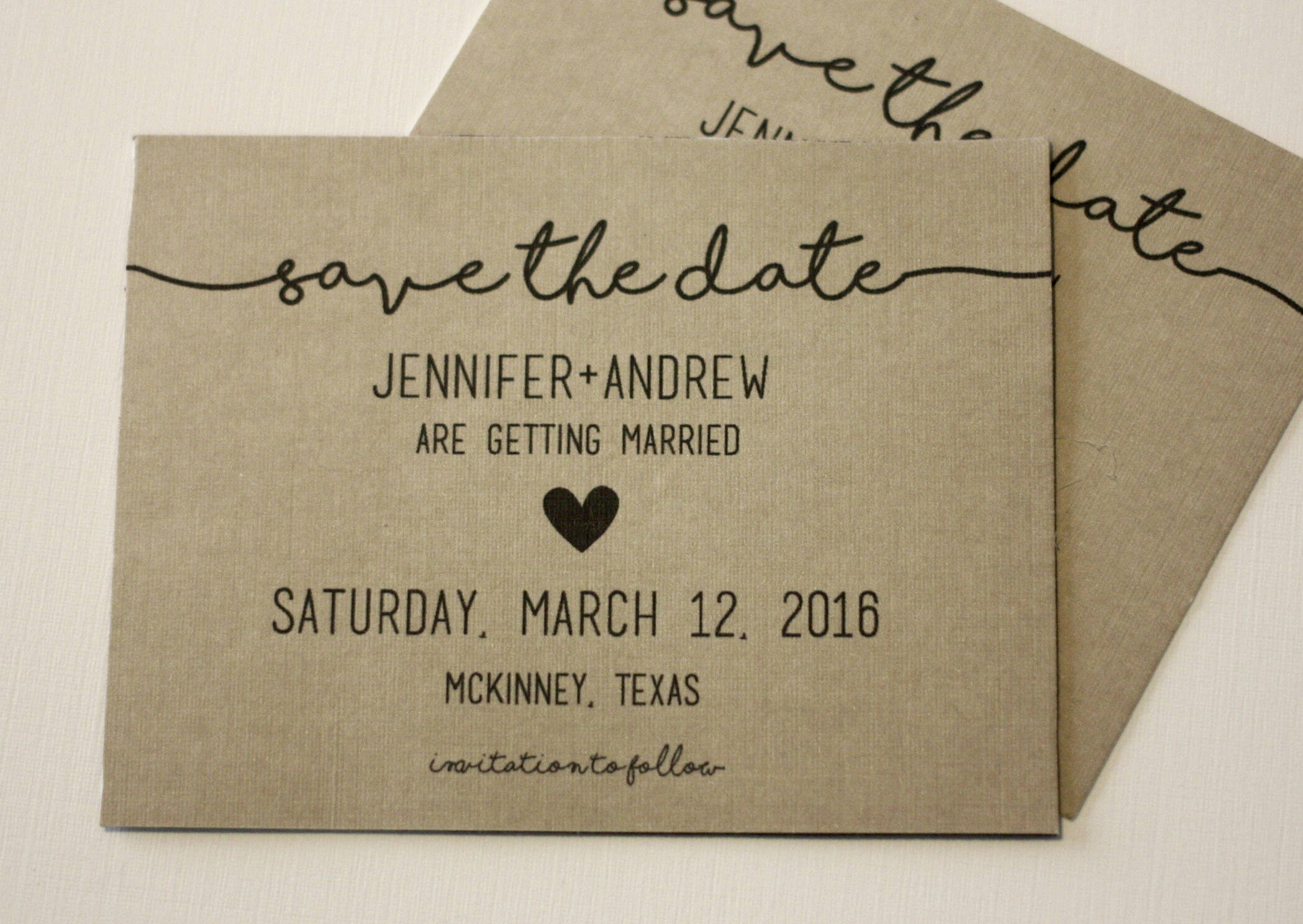 Save Date Cards Envelopes