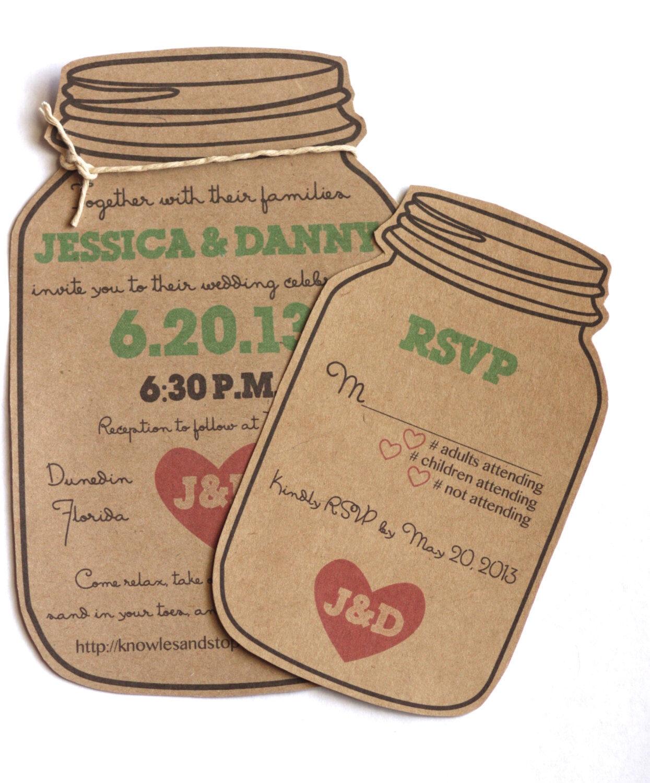 mason jar invitation