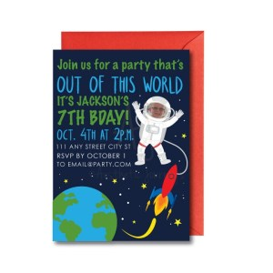 Space Party Invite