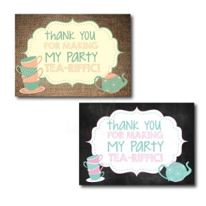 thank you cards for a tea party