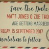 Travel Themed Postcard Save the Date | Save the Date Postcards | Set of 5 Save the Dates
