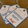 Travel Themed Thank You Tags | Set of 25 Birthday Party Decorations | Tags with or without Personalization