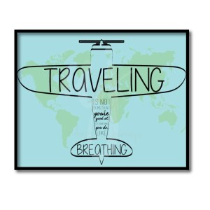 Traveling is Like Breathing Quote