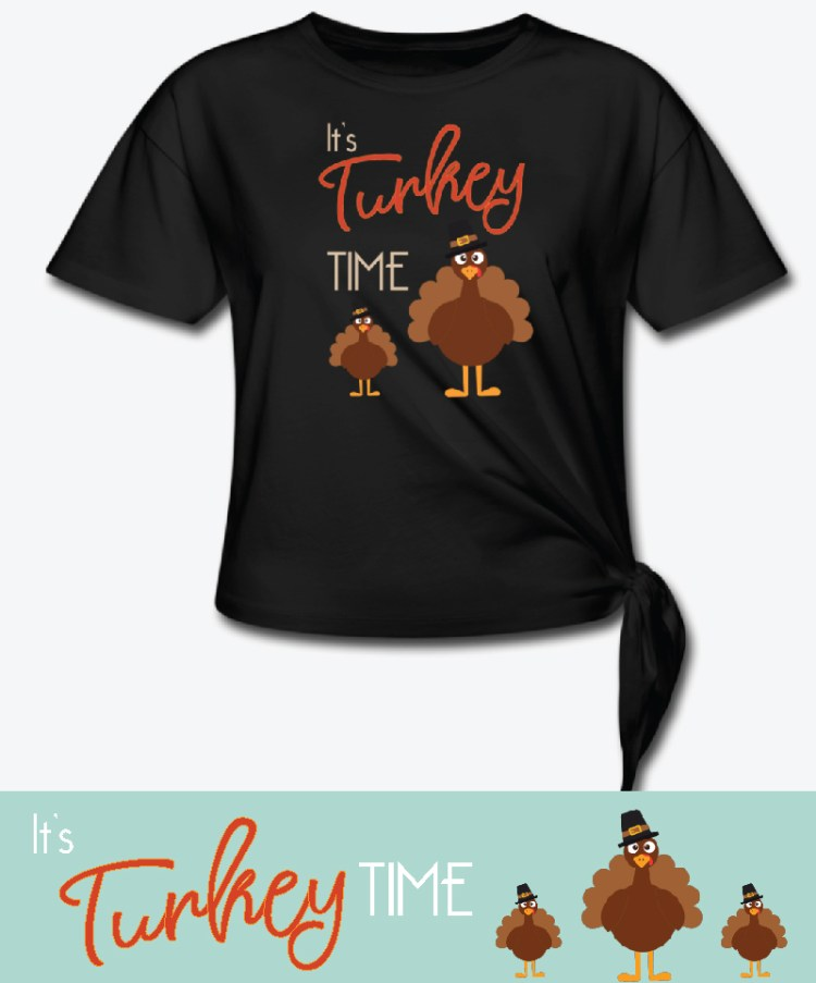 it's turkey time t-shirt