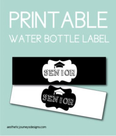 Graduation Themed Water Bottle Labels