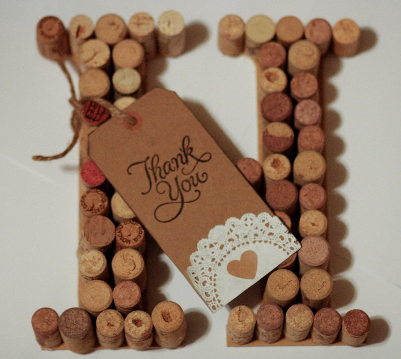 Wine Cork Letter Unique Gift for