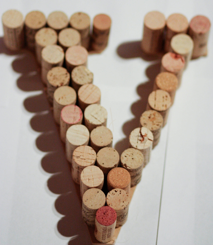 Wine Cork Letters Unique Gift for