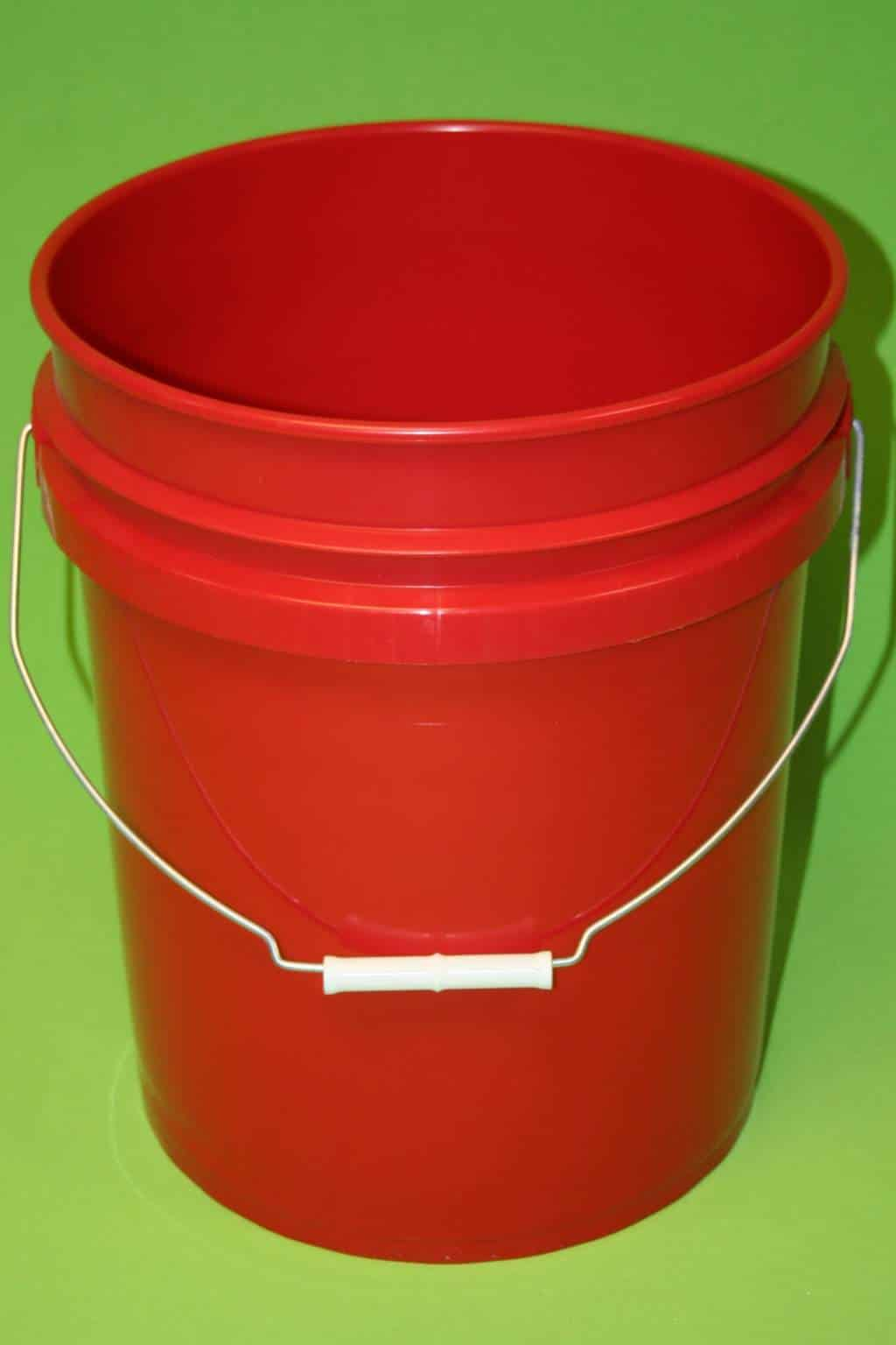 Red 5 Gallon Bucket - Animal Equipment by Stoney