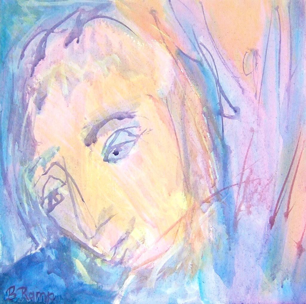 peinture à l'huile visage de l'ange