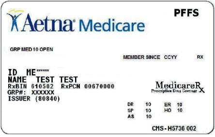 aetna insurance card template  Aetna Medicare Advantage Id Card | Infocards.co