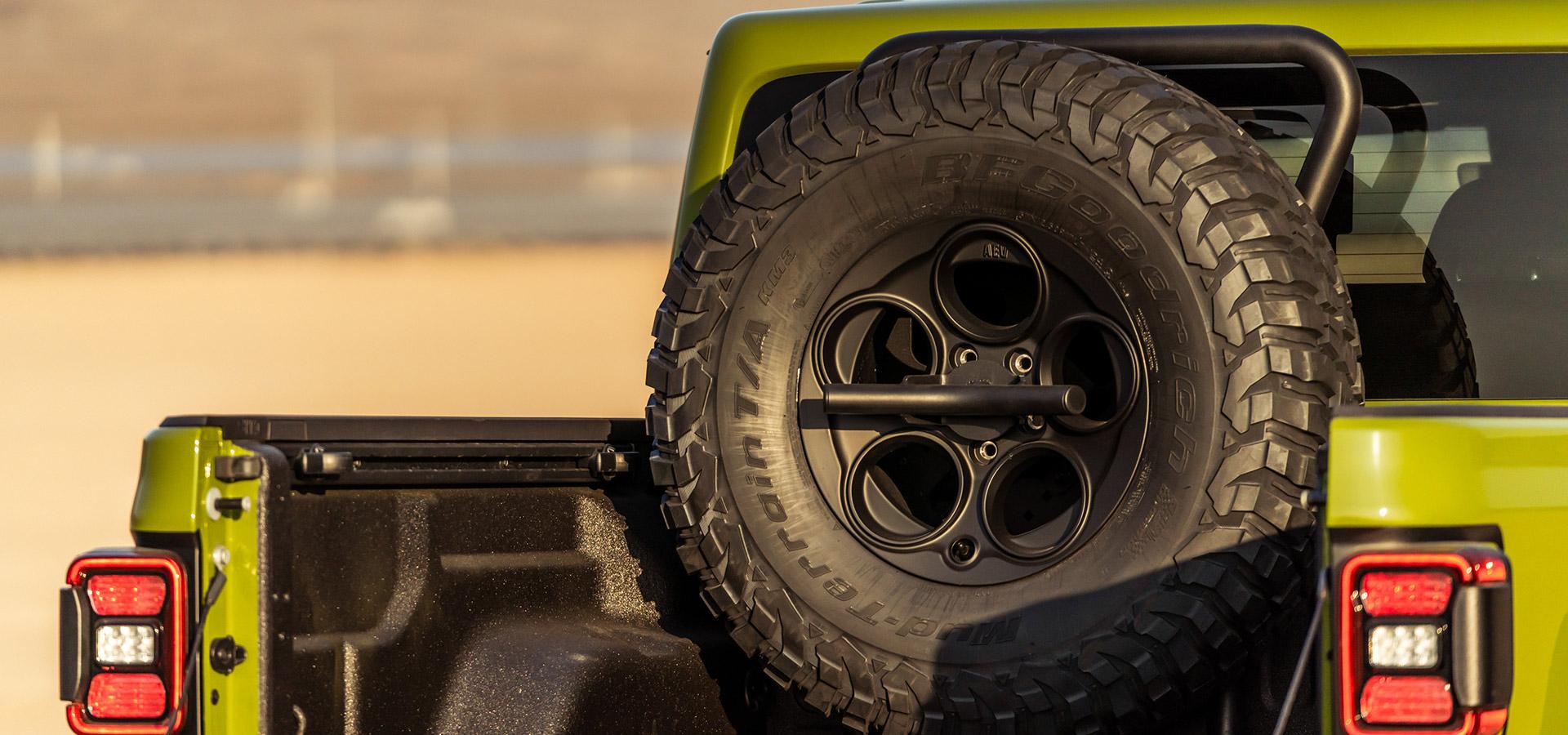 vertical tire mount