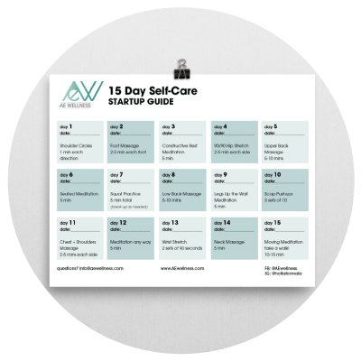 self care startup guide ae wellness calendar and journal