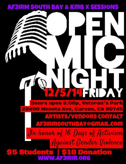 EXPRESS! Open Mic Night FLYER