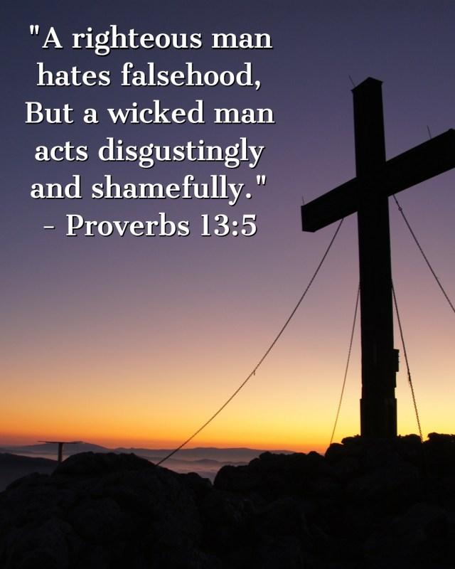 Proverbs 13:5