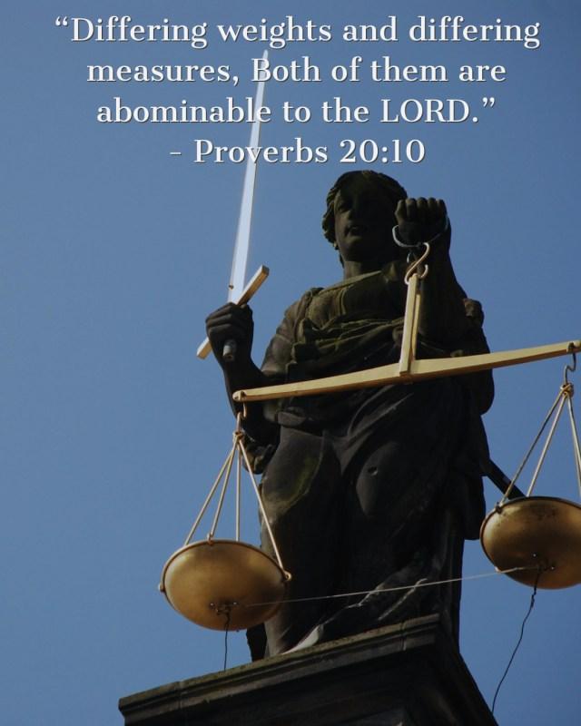 Proverbs 20:10