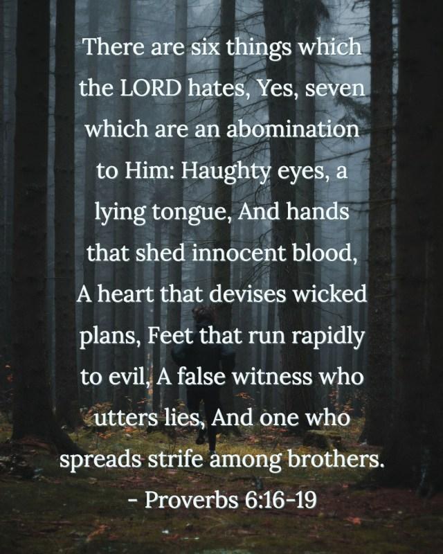 Proverbs 6:16-19