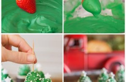 fraise chocolat arbre Noël