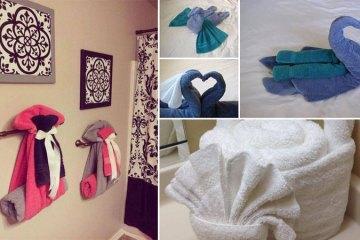 cr er des motifs sur une serviette avec un crayon et le javel. Black Bedroom Furniture Sets. Home Design Ideas