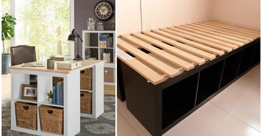 30 id es d co faire pour la maison avec des cubes de rangement. Black Bedroom Furniture Sets. Home Design Ideas