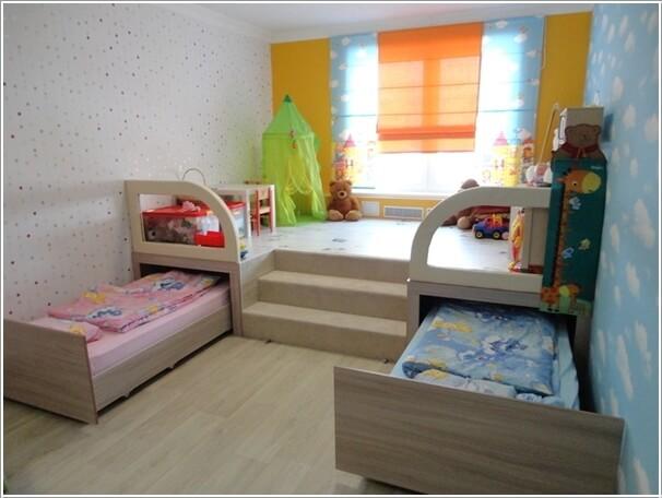 solutions pour gagner de l 39 espace dans la chambre des enfants. Black Bedroom Furniture Sets. Home Design Ideas